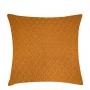 Almofada de Tricot Colmeia (Capa + Enchimento) Mostarda - 50x50