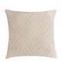 Almofada de Tricot Colmeia (Capa + Enchimento) Off White - 50x50