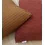 Almofada de Tricot Cordas (Capa + Enchimento) Ferrugem - 50x50