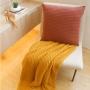Almofada de Tricot Cordas (Capa + Enchimento) Terracota - 50x50