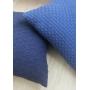 Almofada de Tricot Esteira (Capa + Enchimento) Azul Jeans - 50x50