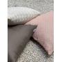 Almofada de Tricot Esteira (Capa + Enchimento) Rosa Claro - 50x50