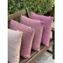 Almofada de Tricot Palha (Capa + Enchimento) Rosa Oriente - 50x50