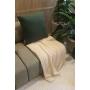Almofada de Tricot Palha (Capa + Enchimento) Verde Floresta - 50x50