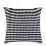 Almofada de Tricot Stripe (Capa + Enchimento) Azul Marinho e Off White - 50x50