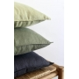 Almofada em Linho Lisa (Capa + Enchimento) Azul Escuro - 50x50 - Al Mare