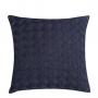 Capa de Almofada de Tricot Cesta Cotton 50x50 Azul Marinho