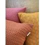 Capa de Almofada de Tricot Cesta Cotton 50x50 Mostarda