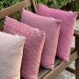 Capa de Almofada de Tricot Cesta Cotton 50x50 Rosa Antigo