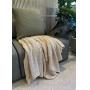 Capa de Almofada de Tricot Chevron Cotton 50x50 Verde Ardósia