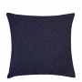Capa de Almofada de Tricot Colmeia Cotton 50x50 Azul Marinho