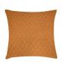 Capa de Almofada de Tricot Colmeia Cotton 50x50 Mostarda