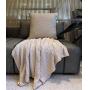 Capa de Almofada de Tricot Colmeia Cotton 50x50 Off White