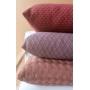 Capa de Almofada de Tricot Esteira Cotton 50x50 Vinho
