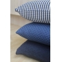 Capa de Almofada de Tricot Stripe Cotton 50x50 Azul Marinho e Off White