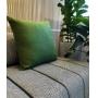 Capa de Almofada em Linho Lisa 50x50 Verde