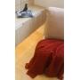 Manta de Tricot Mini Trança 130x175 Cobre