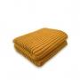 Manta de Tricot Mini Trança 130x175 Mostarda