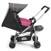 Carrinho De Bebê Berço Flip Rosa Multikids Baby Passeio