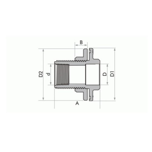 """Adaptador Soldável com Anel para Caixa d'Água 25mm x 3/4"""" - Marrom"""
