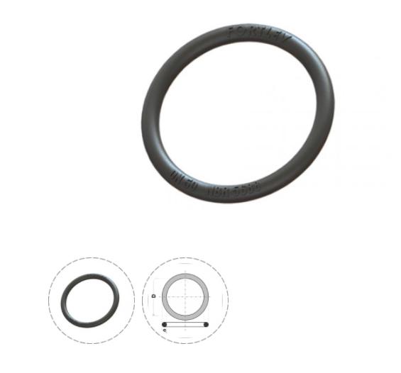 Anel de Vedação para Esgoto 40mm - Preto