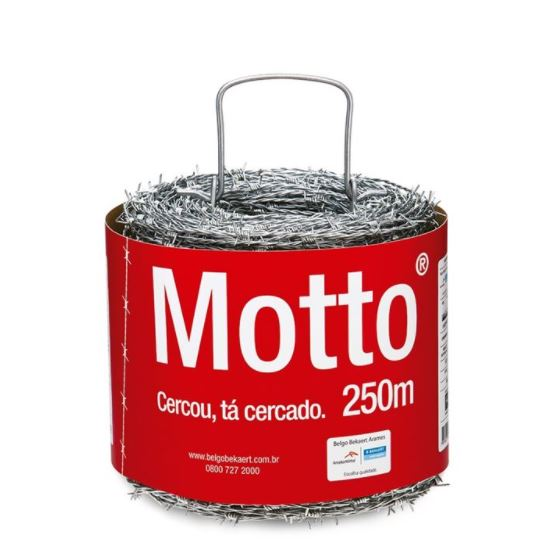 Arame Farpado em Aço Motto 1,6mm com 250 Metros