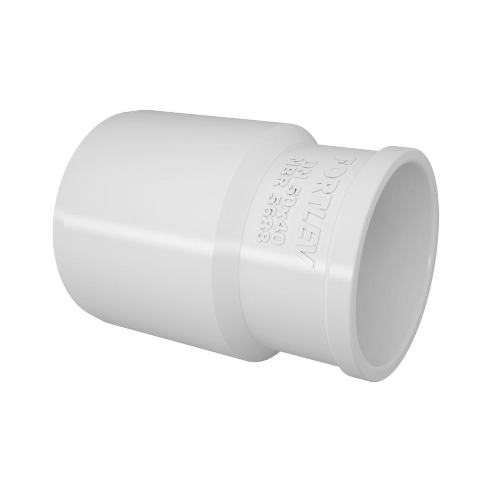 Bucha de Redução Longa para Esgoto SN 50 x 40mm - Branco