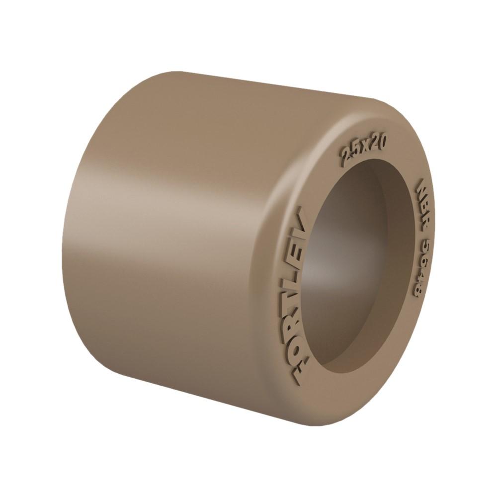 Bucha de Redução Soldável Curta 25x20mm - Marrom