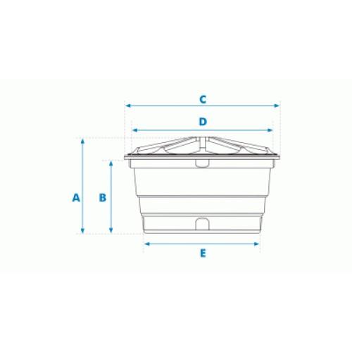 Caixa d'Água de Polietileno 310L