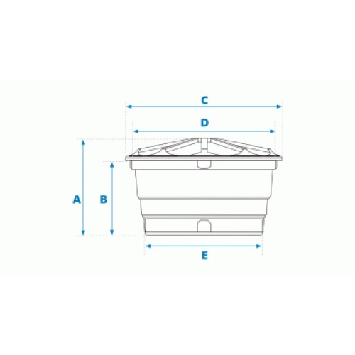 Caixa d'Água de Polietileno 500L