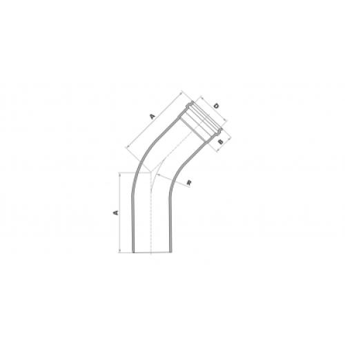 Curva 45° Longa para Esgoto SN 100mm - Branco