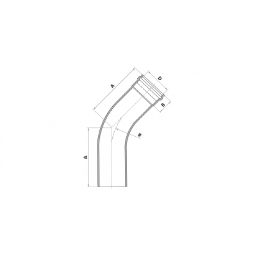 Curva 45° Longa para Esgoto SN 75mm - Branco