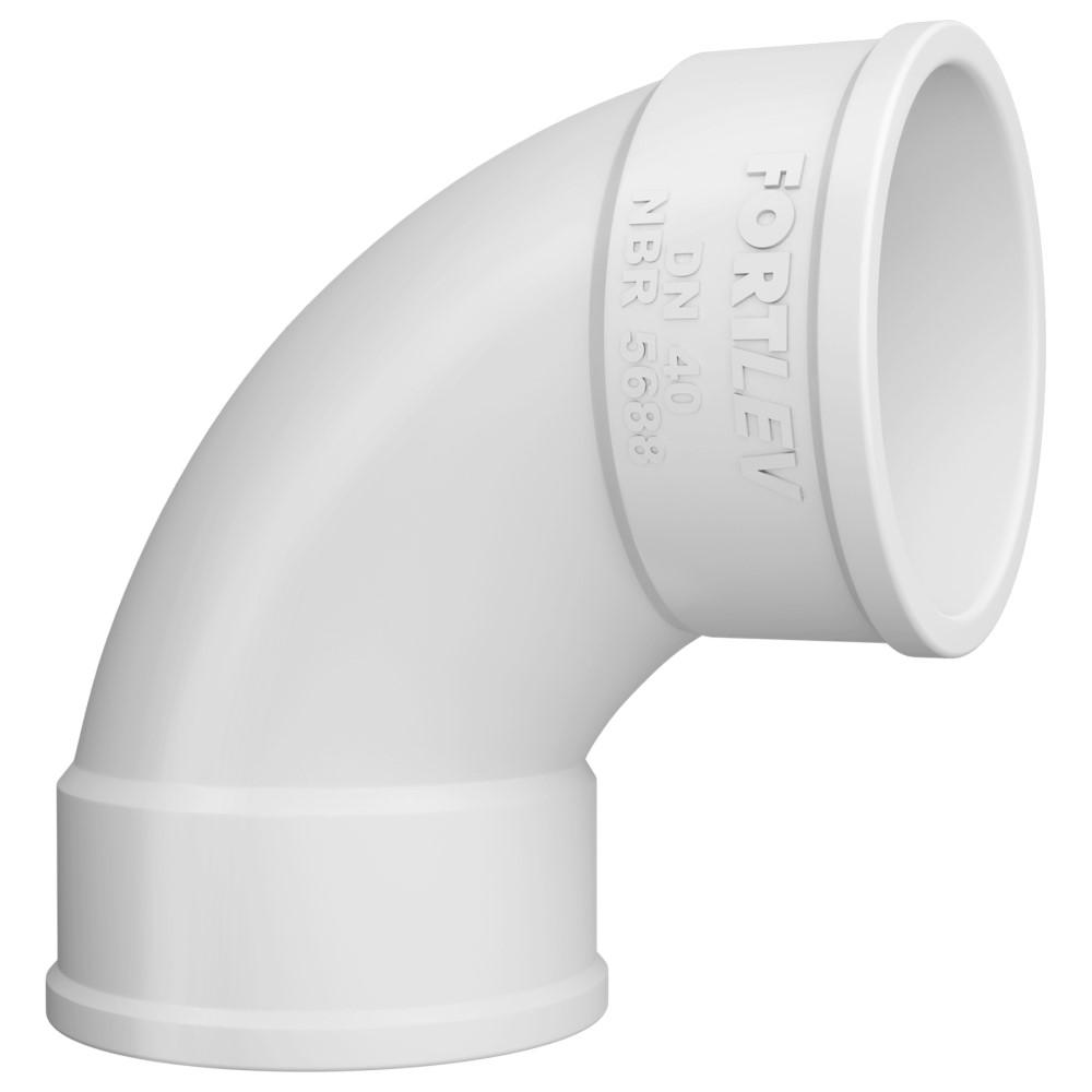 Curva 90° Curta para Esgoto SN 75mm - Branco