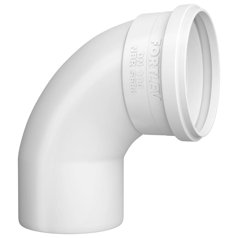 Curva 90° Curta para Esgoto SN 40mm - Branco
