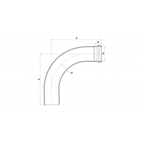 Curva 90° Longa para Esgoto SN 40mm - Branco