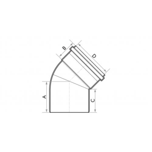 Joelho 45° para Esgoto SN 100mm - Branco