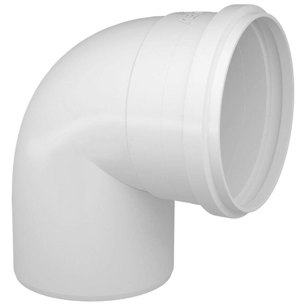 Joelho 90° para Esgoto SN 100mm - Branco
