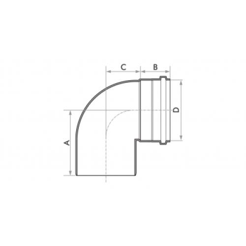 Joelho 90° para Esgoto SN 75mm - Branco