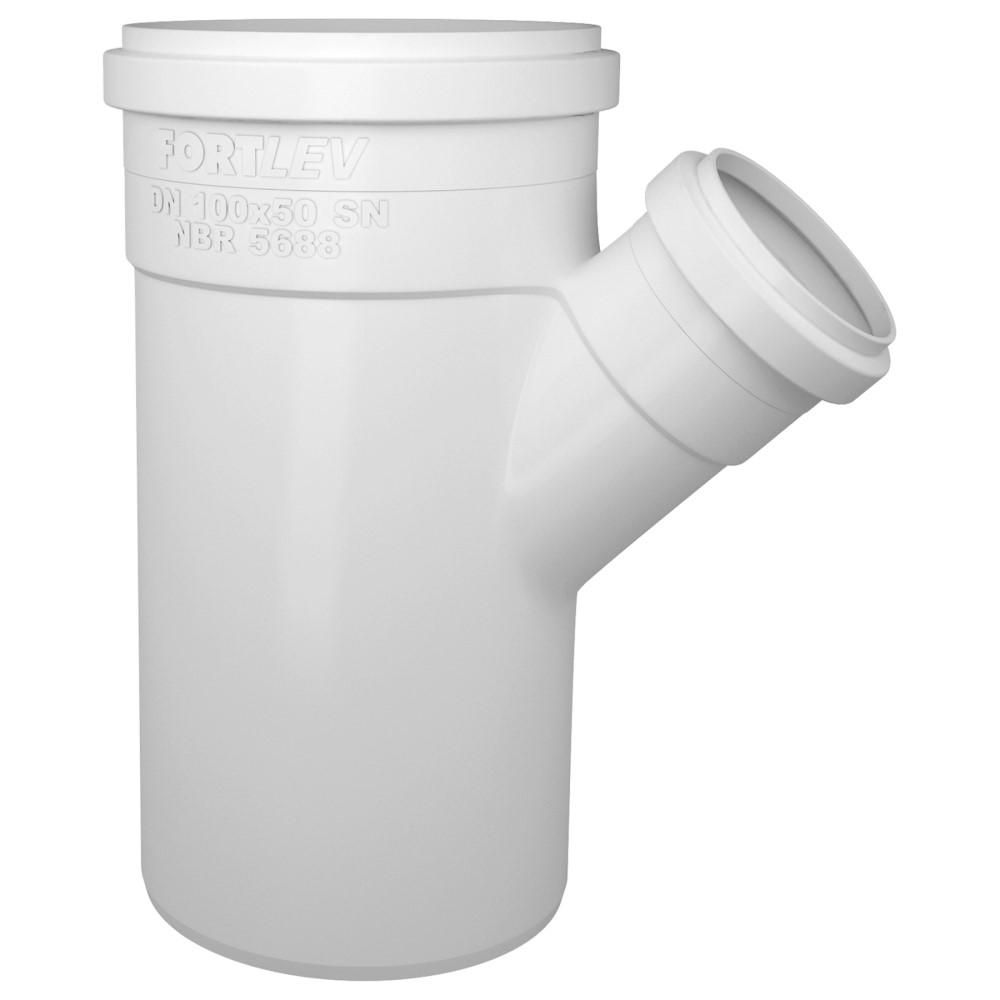 Junção de Redução para Esgoto SN 100x50mm - Branco