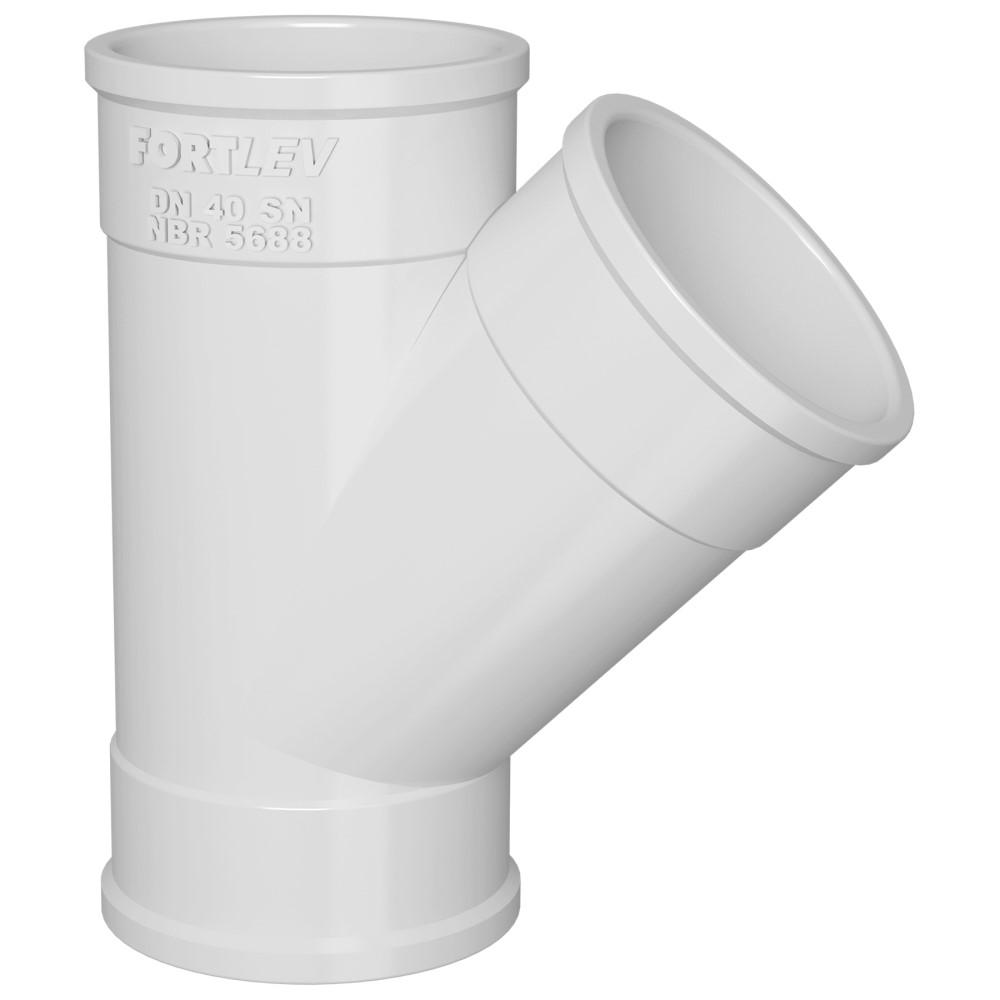 Junção Simples para Esgoto SN 50mm - Branco