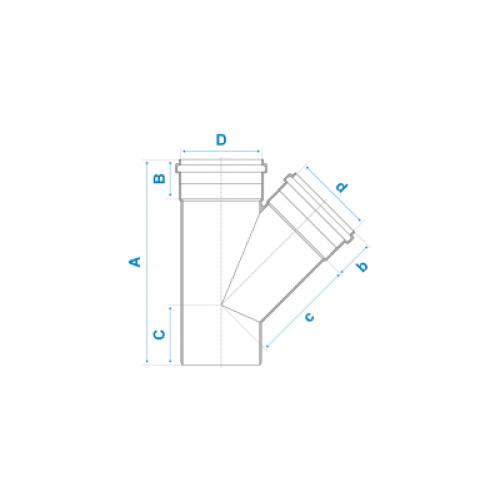 Junção Simples para Esgoto SN 100mm - Branco
