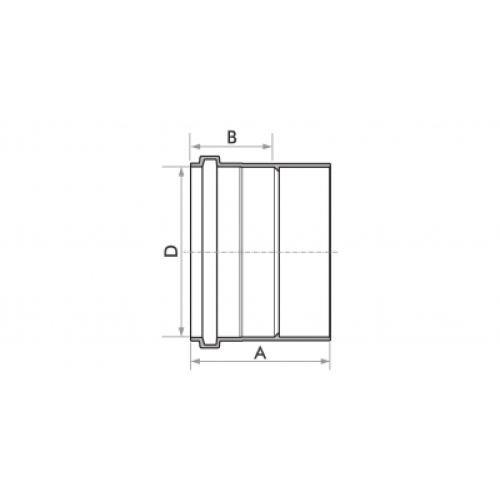 Luva Simples para Esgoto SN 40mm - Branco