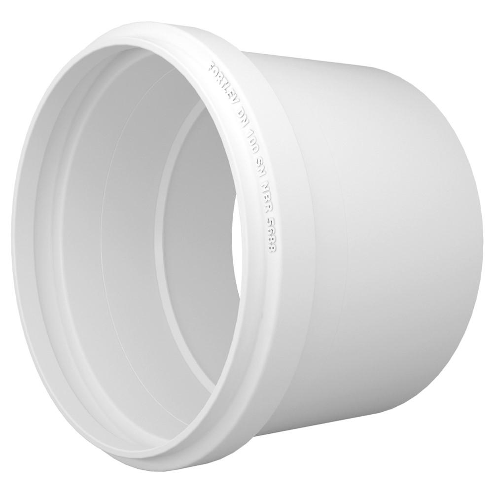 Luva Simples para Esgoto SN 75mm - Branco