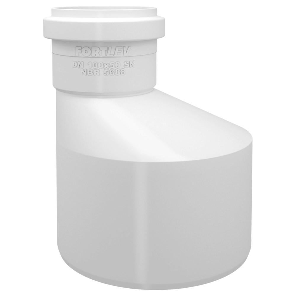 Redução Excêntrica para Esgoto SN 100x50mm - Branco