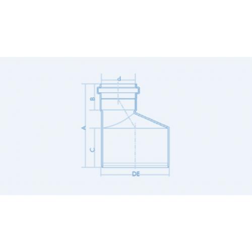 Redução Excêntrica para Esgoto SN 75x50mm - Branco