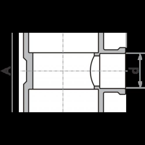 Tê de Redução Soldável 50x25mm - Marrom