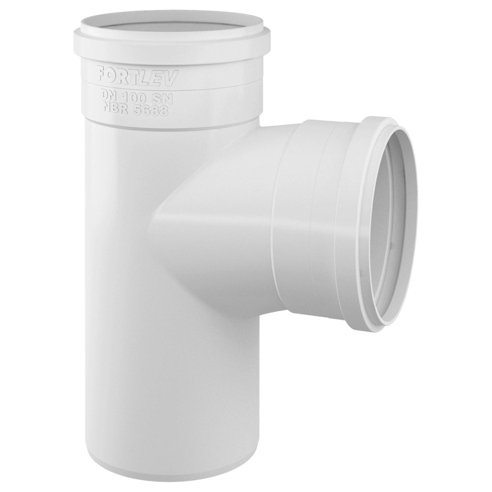 Tê para Esgoto SN 100mm - Branco
