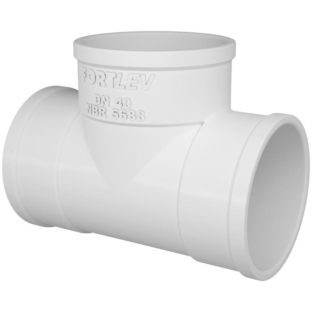 Tê para Esgoto SN 50mm - Branco
