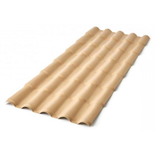 Telha PVC Colonial 3,28x0,86m Marfim