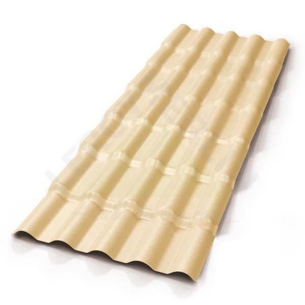 Telha PVC Colonial 5,25x0,86m Marfim